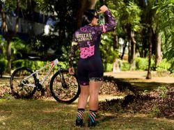 Macaquinho - BADGIRLS- Manga Longa - Macaquinho de Ciclismo