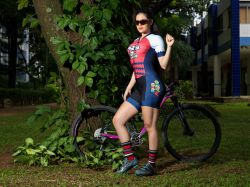Macaquinho Ciclista Super Mário - Manga Curta - Macaquinho de Ciclismo