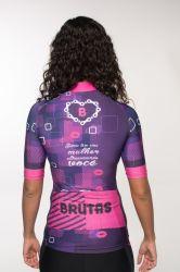 Camisa -Sorria Tem Uma Mulher Ultrapassando-Manga Curta - Camisa de Ciclismo