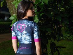 Camisa -Caveira esfumaçado-Manga Curta - Camisa de Ciclismo