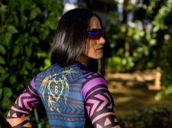 Camisa Tribal - Manga Longa - Camisa de Ciclismo