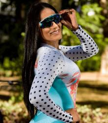 Camisa Poás Floral - Manga Longa - Camisa de Ciclismo
