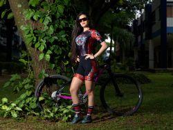 Macaquinho Ciclismo Promoção - Caveira Rock
