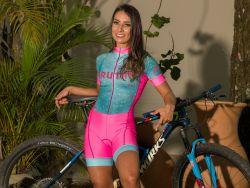 Macaquinho - Princess -Manga Curta - Macaquinho de Ciclismo